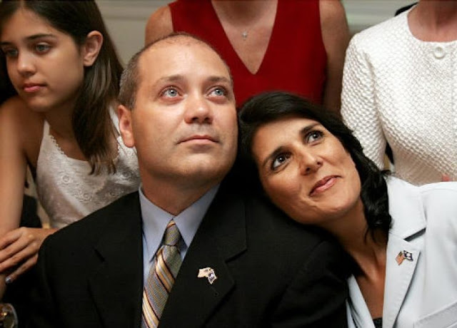 Nikki Haley and her husband