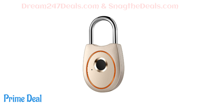 50% off Fingerprint Padlock Smart Touch Lock Metal Waterproof IP65 Anti-Theft Intelligent Keyless Gym Locker School Backpack Suitcase Travel Luggage