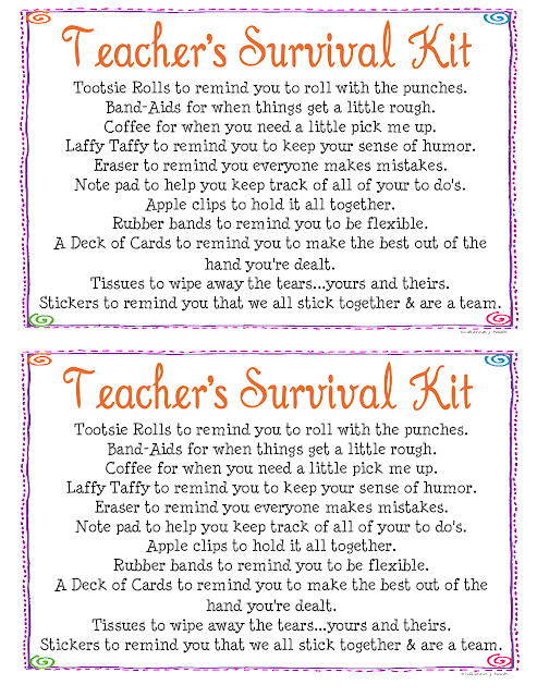 simply made with love: Teacher's Survival Kit