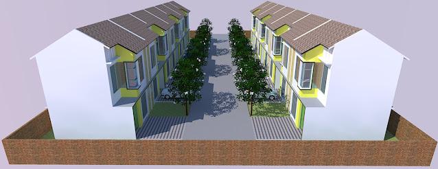 site plan kawasan perumahan