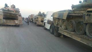 Konvoy Besar Pasukan Rezim Syiah Nushairiyah Memasuki Daraa