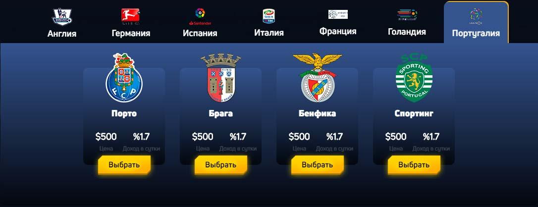 Инвестиционные планы FootballFever 7