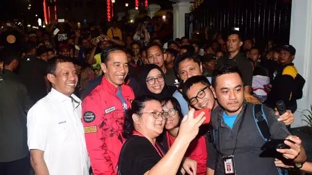 Jokowi Tahun Baru 2020 di Titik Nol Yogyakarta