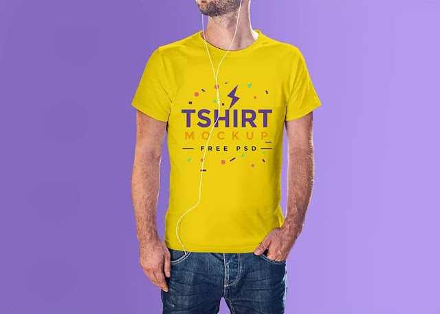 Photorealistic Free Tshirt Mockup PSD - High Resolution