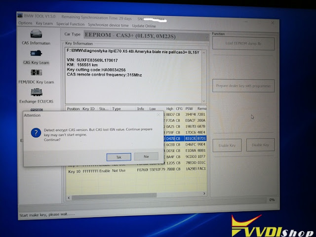 Program BMW E70 All Keys Lost with Xhorse VVDI BMW 2