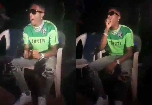 Wizkid Seen Yawning On A Plastic Chair After Performing In Ilorin