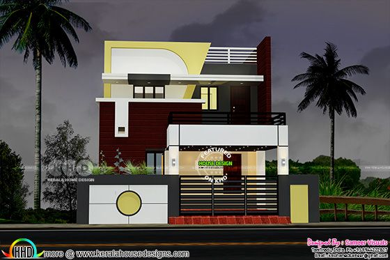 2460 sq-ft 4 bedroom modern South Indian home