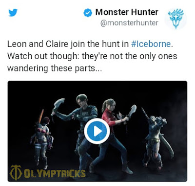 Leon and Claire are on their way to Monster Hunter World: Iceborn