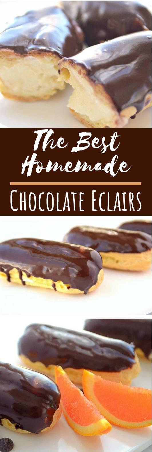 Chocolate Eclair #desserts #cake