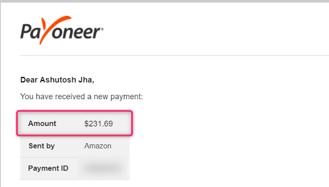 Amazon US Affiliate payment using Payoneer