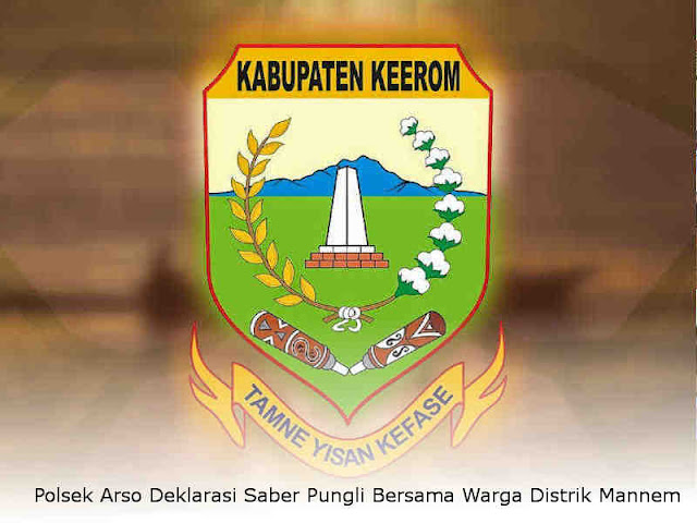 Polsek Arso Deklarasi Saber Pungli Bersama Warga Distrik Mannem