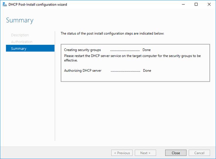 تثبيت دور DHCP في Windows Server 2016