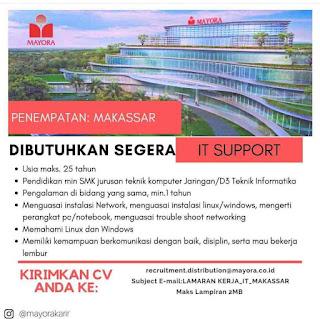 Lowongan Kerja Mayora Makassar Terbaru 2020