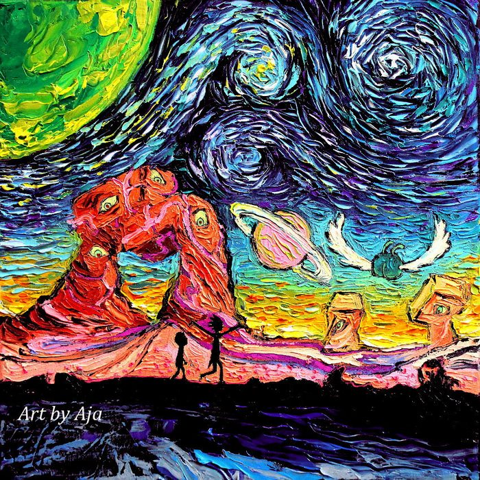 After Artist's Painting Got Mistaken For A Van Gogh, She Decided To Create A Stunning 'Starry Night' Series