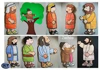personnages pour raconter zachée