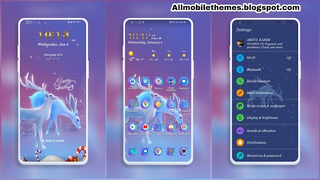 Winter Violet Huawei Theme. FOR Emui 10 /10.1