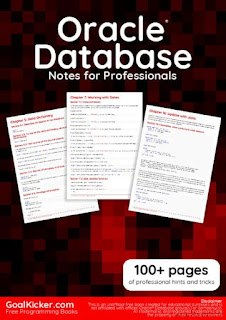 Oracle Database Notes for Professionals PDF