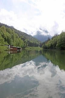 Riessersee in Garmisch-Partenkirchen, Bayern, Deutschland