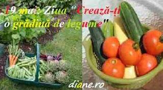 """19 mai: Ziua """"Crează-ți o grădină de legume"""""""