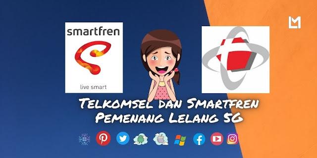 Telkomsel dan Smartfren Pemenang Lelang 5G Indonesia Freq 2,3 Ghz 2021