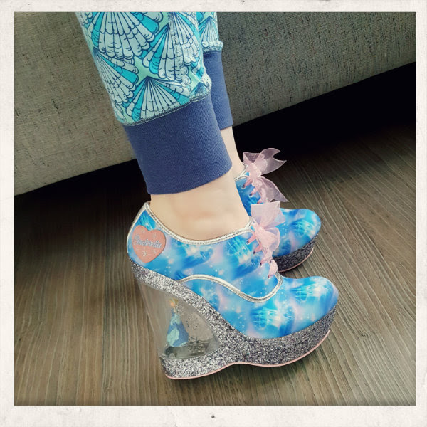 wearing irregular choice call me cinders wedge shoes