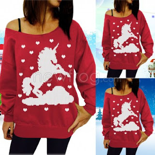 Unicorn Sweater for Christmas