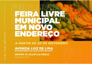 Feira Livre Municipal de Cajati em novo endereço