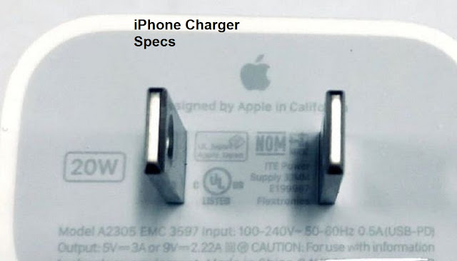 iPhone Charger Specs