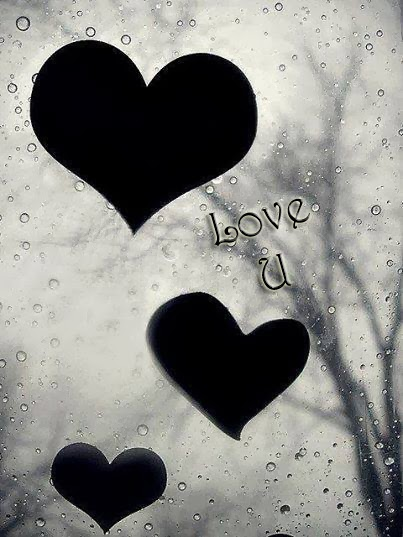 love u with black heart