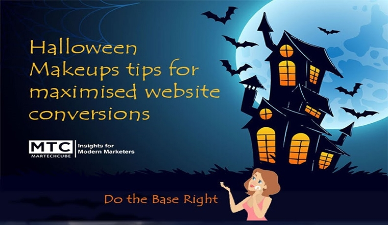 Halloween Makeup tips for maximized website conversions #infographic