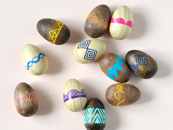 DIY Patterned Wooden Easter Eggs