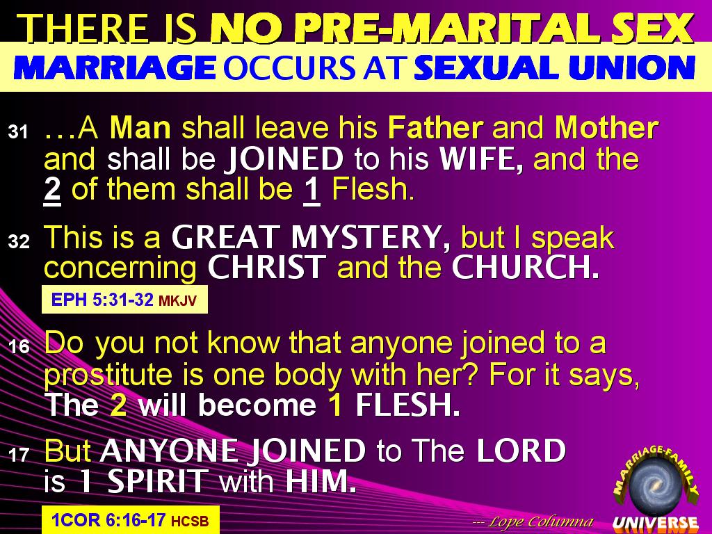 Myths of premarital sex