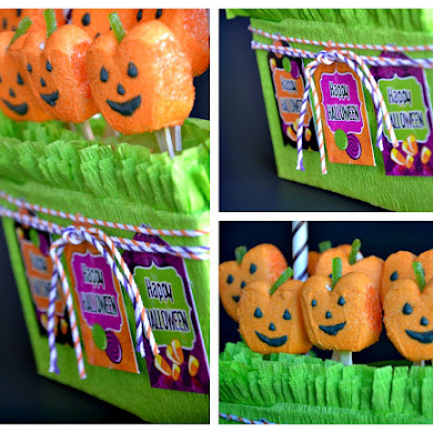 DIY Halloween Candy Displays with Pumpkin Peeps