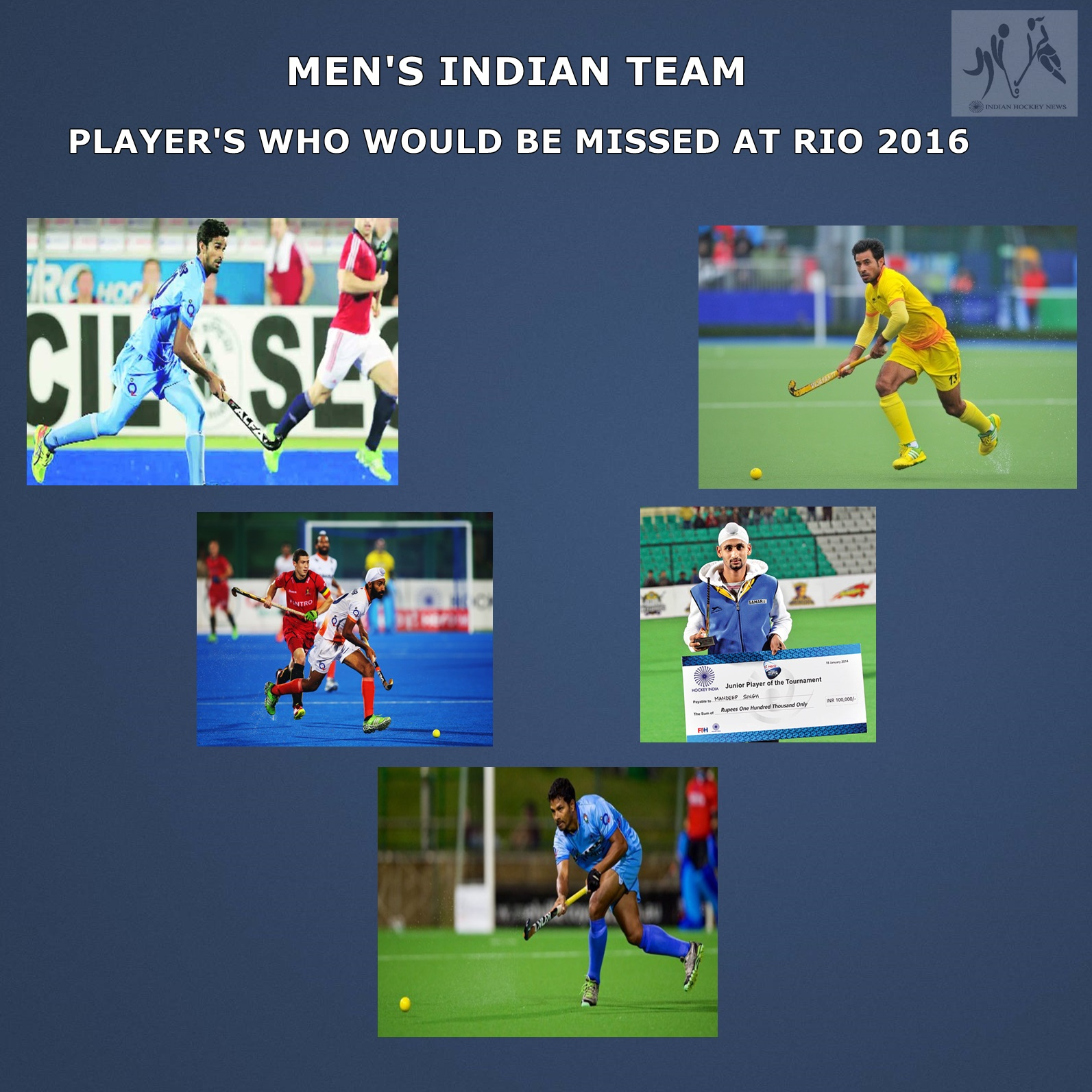 Player S Who Would Be Missed At The Olympics Men S Indian Team