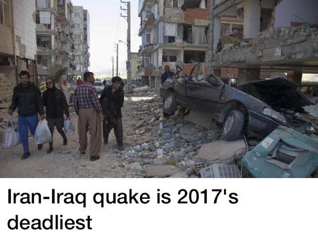 इराक इराण मध्ये झाला १२ वर्षातील सर्वात मोठा भूकंप