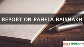 Report on Pahela Baishakh