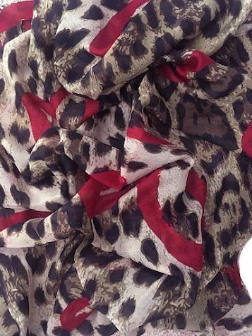 Best Leopard Pattern Silk Chiffon Scarves