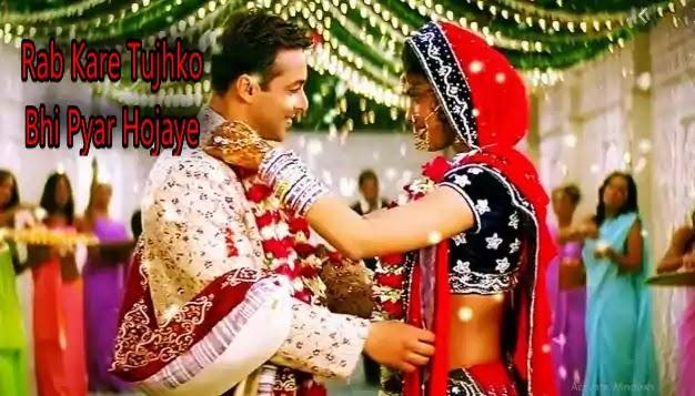 RabKareTujhkoBhiPyarHojayeLyrics, Rab Kare Tujhko Bhi Pyar Hojaye Lyrics  - Alka Yagnik and Udit Narayan - Mujhse Shaadi Karogi Full Song (Salman Khan Priyanka Chopra),     Shaadi Karoge (2004) Vocal: Alka Yagnik and Udit Narayan Artist: Salman Khan and Priyanka Chopra Music: Sajid Wajid Lyrics: Alees Sherwani    Mujhse Shaadi Karogi (transl.Will You Marry Me?) is a 2004 Indian romantic comedy film directed by David Dhawan and produced by Sajid Nadiadwala. The film stars Salman Khan, Akshay Kumar and Priyanka Chopra, the second collaboration of Kumar and Chopra after their successful Andaaz (2003). The supporting cast includes Amrish Puri, Kader Khan, Satish Shah and Rajpal Yadav, with several Indian cricket team players in cameo appearances.         Rab Kare Tujhko Bhi Pyar Hojaye  - Alka Yagnik and Udit Narayan - Lyrics In English    Ho oh oh oh oh, ho oh oh oh oh  Oh oh ho ho, ho oh oh oh oh    Udit narayan:  O, tera dil bhi jaana beqaraar ho jaaye  Tera dil bhi jaana beqaraar ho jaaye  Rab kare tujhko bhi pyaar ho jaaye   Rab kare tujhko bhi pyaar ho jaaye    Alka yagnik:  O, mera dil bhi tera talabgaar ho jaaye  Mera dil bhi tera talabgaar ho jaaye  Rab kare mujhko bhi pyaar ho jaaye   Rab kare mujhko bhi pyaar ho jaaye    La la la la la la la    Udit narayan:  Hey hey hey, ho ho ho  Tu ada hai tu mohabbat, tu hi mera pyaar hai  Mar mita hoon mar mita hoon  Haan mujhe ikraar hai    Alka yagnik:  Jaanti hoon hai sharaarat yeh jo tera pyaar hai  Kya karoon main kya karoon main  Dil ko to inkaar hai    Udit narayan:  O, tere dil pe mera ikhtiyaar ho jaaye  Tere dil pe mera ikhtiyaar ho jaaye  Rab kare tujhko bhi pyaar ho jaaye   Rab kare tujhko bhi pyaar ho jaaye    Alka yagnik:  Main haseena naazneena, har taraf yeh shor hai  Tu deewaana ban gaya hai  Dil pe kis ka zor hai    Udit narayan:  Main deewaana kam nahin hoon, haarkar na jaaoonga  Dil churaane aa gaya hoon  Dil chura le jaaoonga    Alka yagnik:  Tere dil pe mujhko aitbaar ho jaaye   Tere dil pe mujhko a