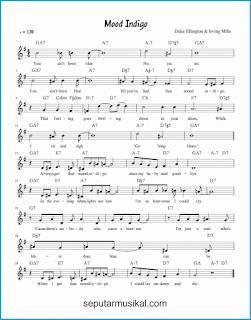 chord mood indigo lagu jazz standar