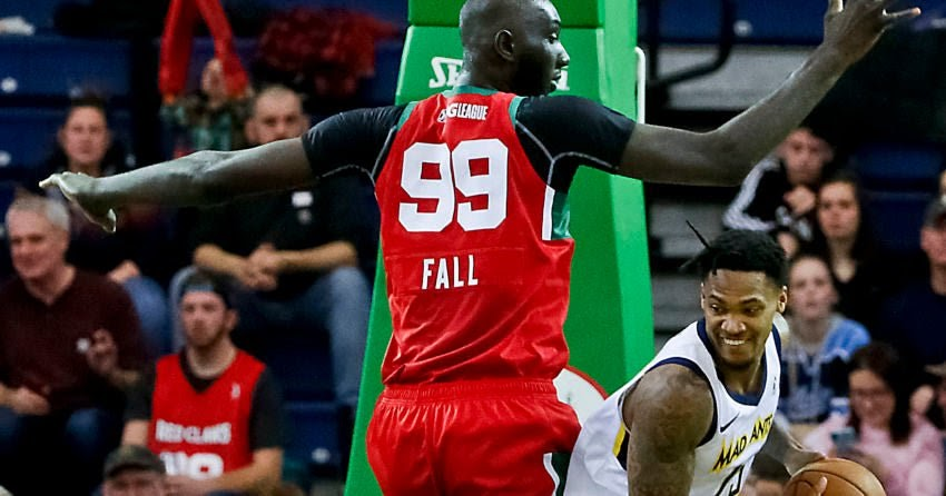 Tacko Fall tallies 16 points, 13 rebounds, and 6 blocks in Red Claws win; Romeo Langford injures ankle