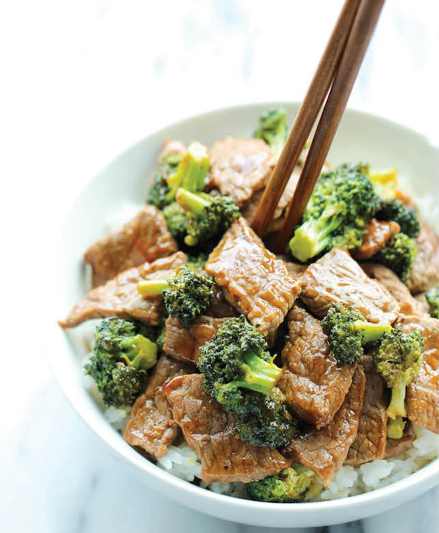 EASY FOOD RECIPES : EASY BEEF AND BROCCOLI