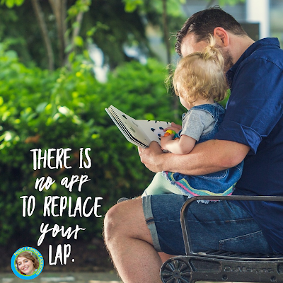 There is no app to replace your lap from Paula's Primary Classroom blog