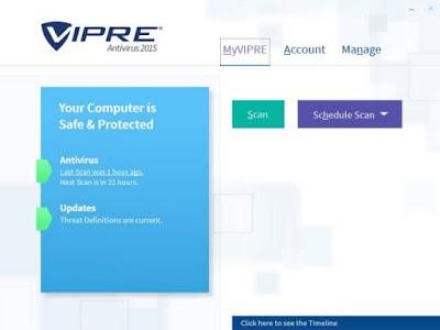 برنامج VIPRE Antivirus  متوفر باكثر من نسخة بخواص وامكانيات مختلفة