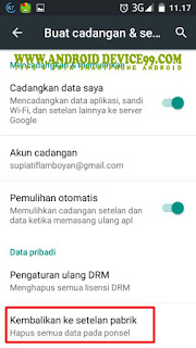 Factory Reset Advan i45