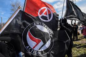 Antifa flags