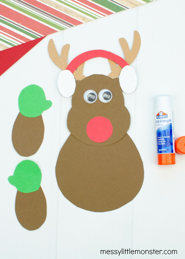 reindeer craft with printable reindeer template