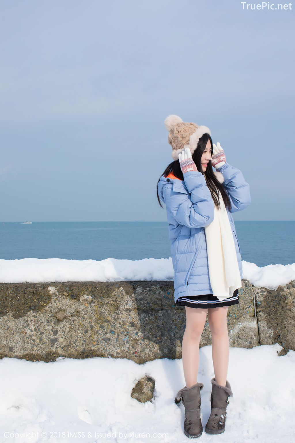 Image-IMISS-Vol.262-Sabrina model–Xu-Nuo-许诺-Sparkling-White-Snow-TruePic.net- Picture-4