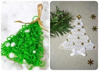 Arbol de Navidad Plano de Crochet