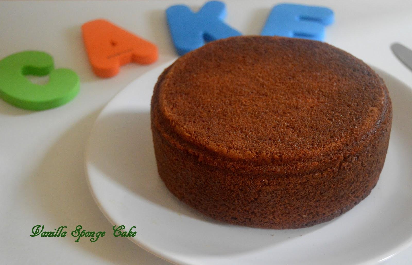 Sponge Cake Recipe Uk Plain Flour: Pavi's Platter: Simple Vanilla Sponge Cake