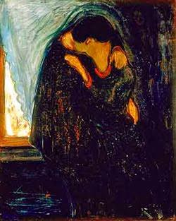 O Beijo - Munch, Edvard esuas principais pinturas ~ Um grito de desespero existencial
